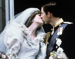 Księżna Diana i książę Karol, pocałunek, ślub Diany i Karola