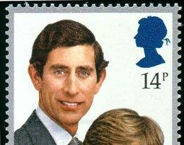 księżna Diana i książę Karol, znaczek pocztowym z 1981 roku