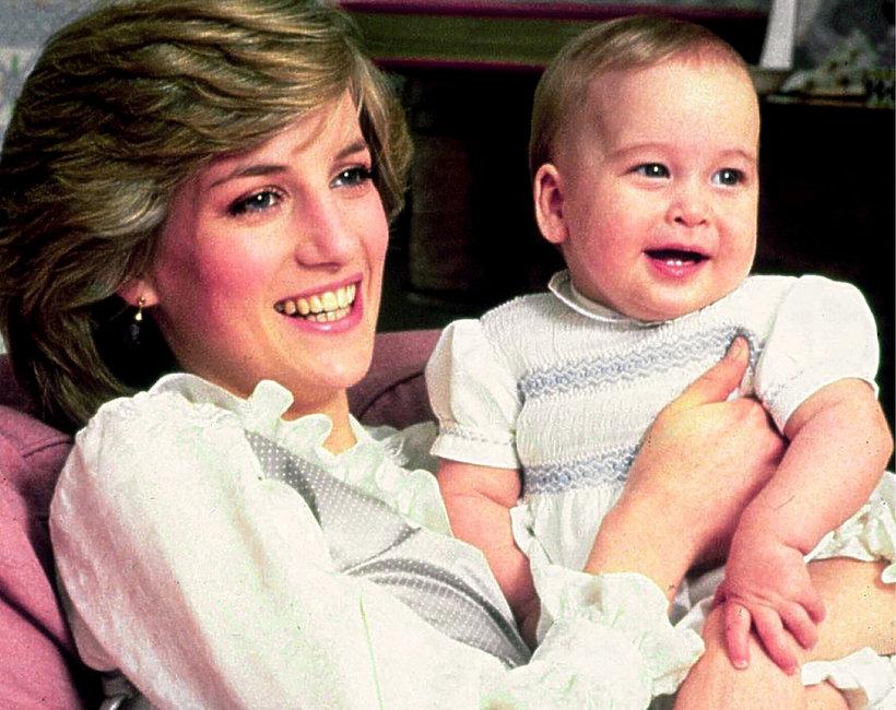 Księżna Diana i książę William jako dziecko