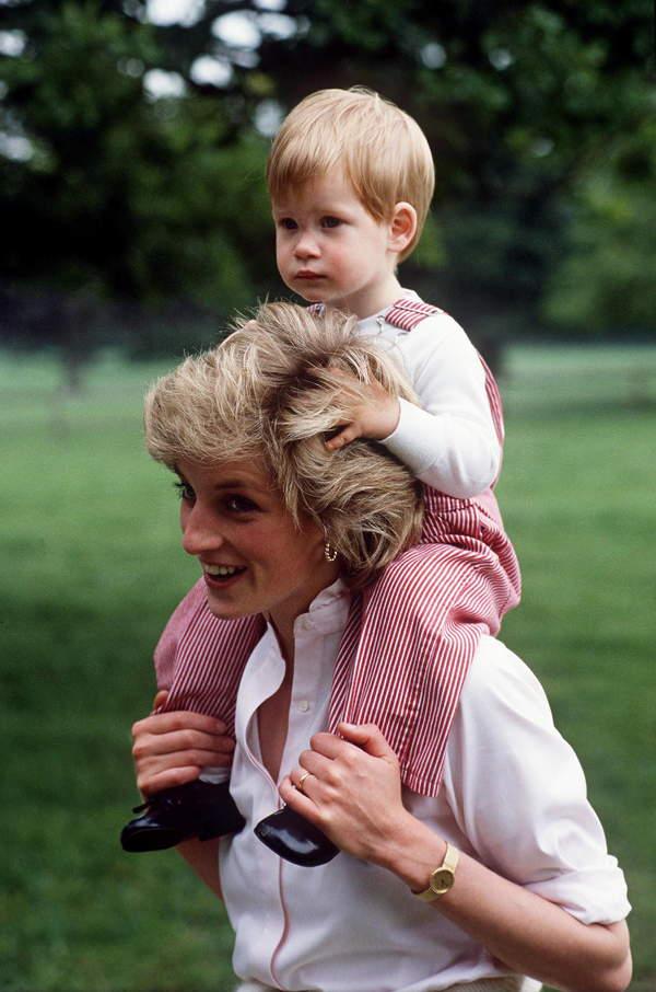 Księżna Diana i książęHarry