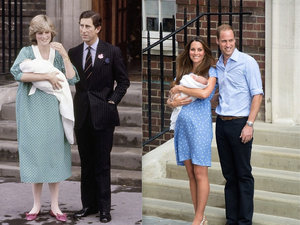 Księżna Diana i księżna Kate