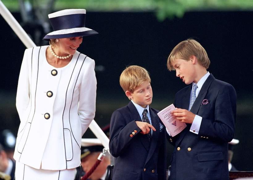 Księżna Diana, książę William, książę Harry