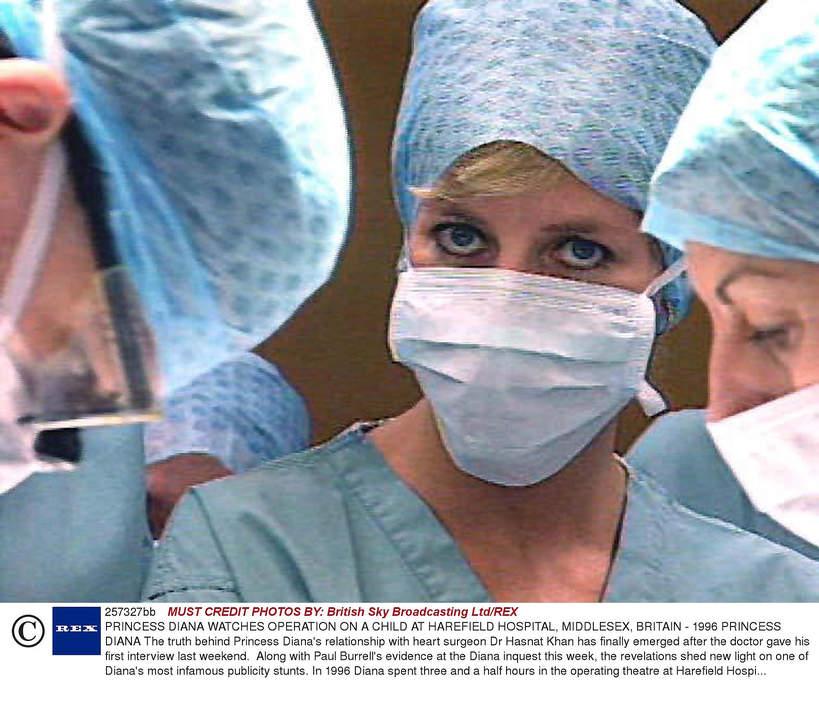Księżna Diana w szpitalu