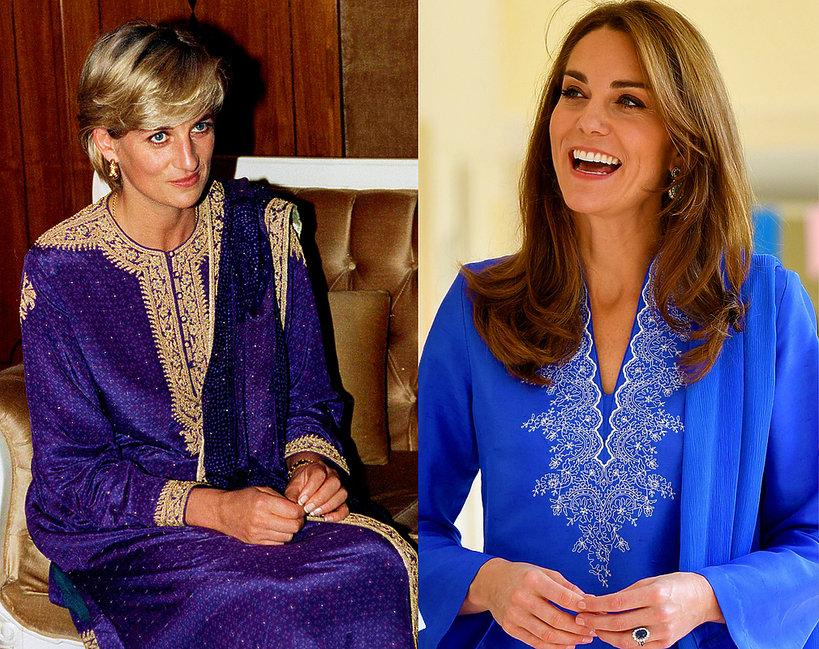 Księżna Kate i księżna Diana w Pakistanie