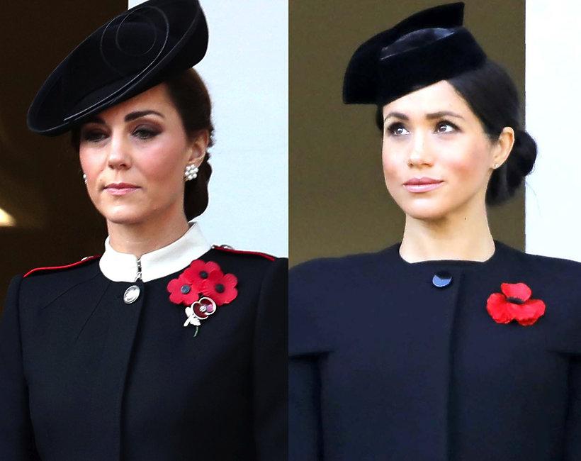 księżna Kate i księżna Meghan w czasie Dnia Pamięci
