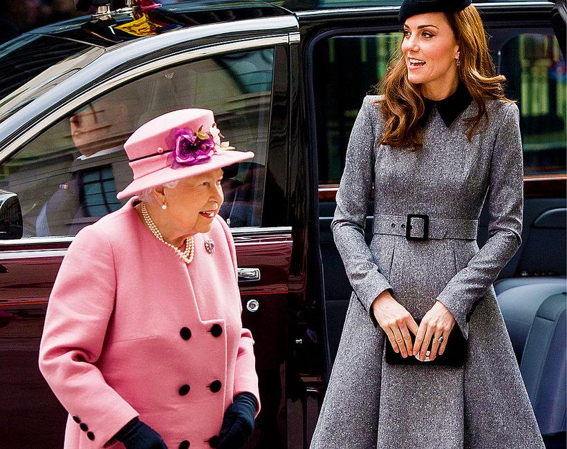 księżna Kate, królowa Elżbieta II, Kate i królowa