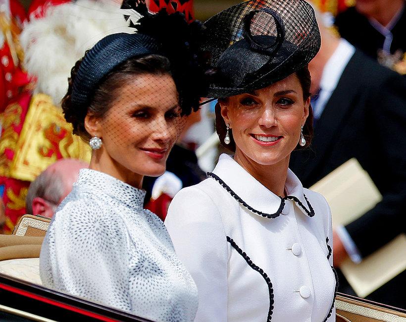 Księżna Kate, królowa Letizia, królowa Letycja