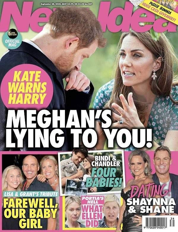 Księżna Kate, książę Harry, New Idea okładka