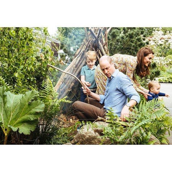 księżna Kate, książę Louis, książę William
