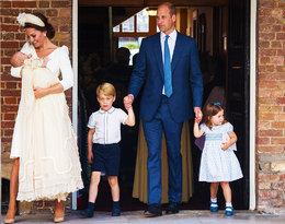 Księżna Kate, książę William, książę George, książę Louis, księżniczka Charlotte