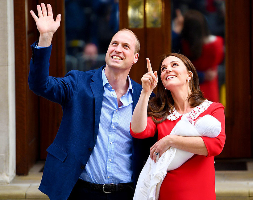 Księżna Kate, książę William, książę Louis