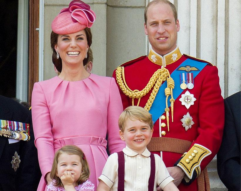 Księżna Kate, książę William, księżniczka Charlotte, książę George