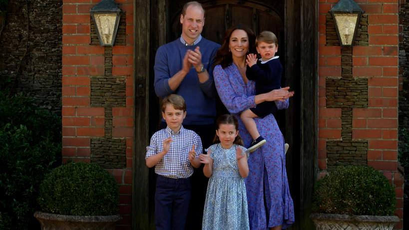 Księżna Kate, książę William, Louis, George, Charlotte