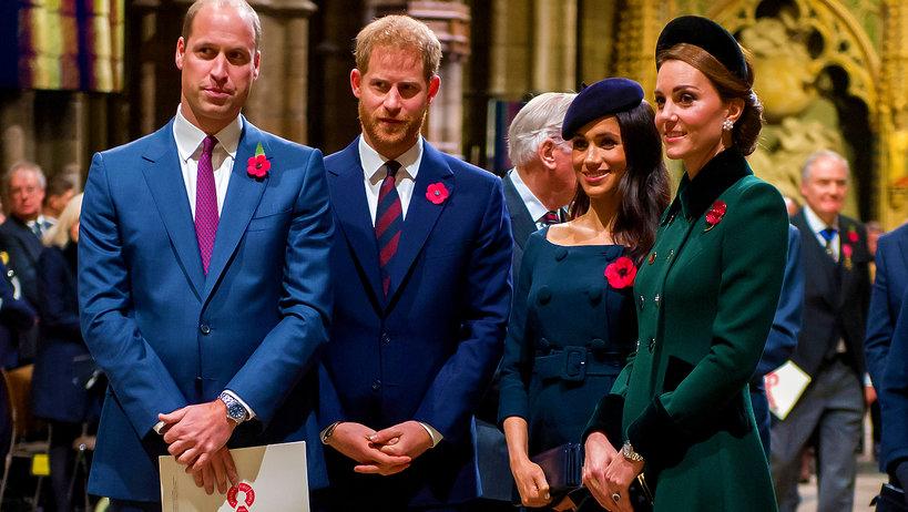 księżna Kate, księżna Meghan, Książę William, książę Harry