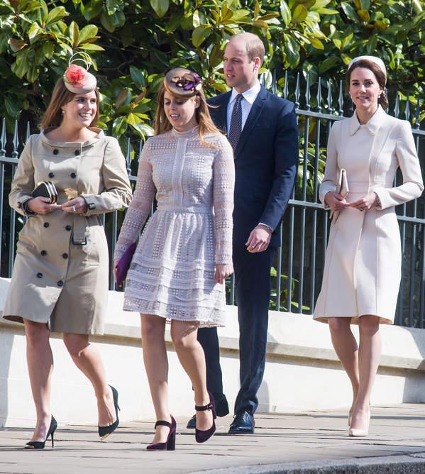 księżna Kate, księżniczka Beatrice, księżniczka Eugenia