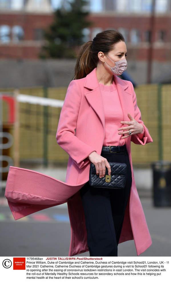 Księżna Kate, marzec 2021 Księżna Kate ukrywa ciążowe krąglości?