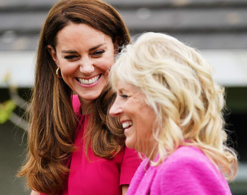 Księżna Kate na spotkaniu z Jill Biden