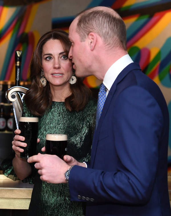 Księżna Kate pije piwo, księżna Kate w Irlandii