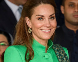 Kate Middleton w zielonej kreacji! Czy jej stylizacja nawiązuje do flagi Pakistanu?