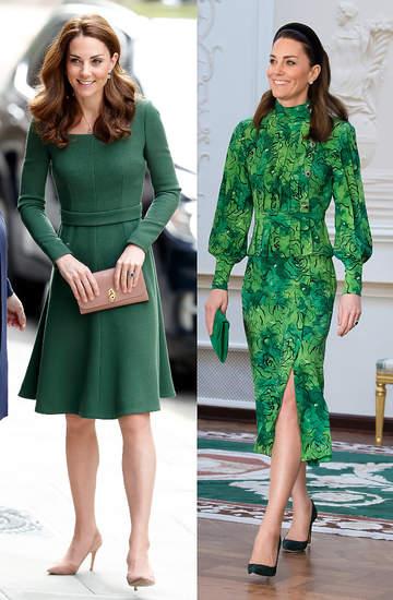 Księżna Kate zielone sukienki