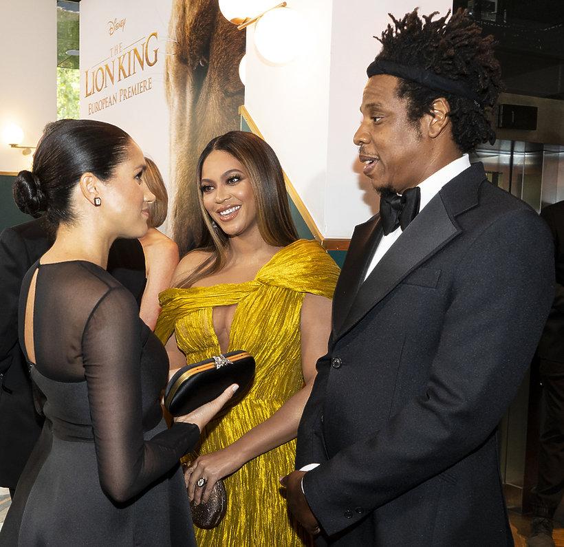 księżna Meghan, Beyonce, Jay Z, premiera Króla Lwa 2019