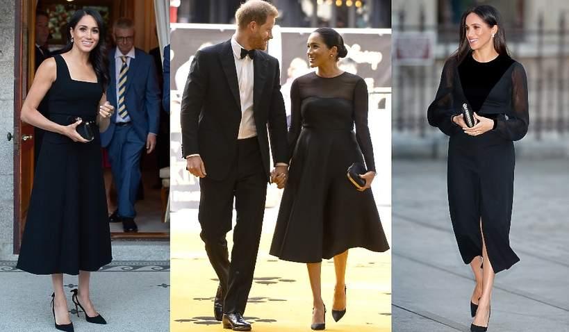 Księżna Meghan czarne sukienki
