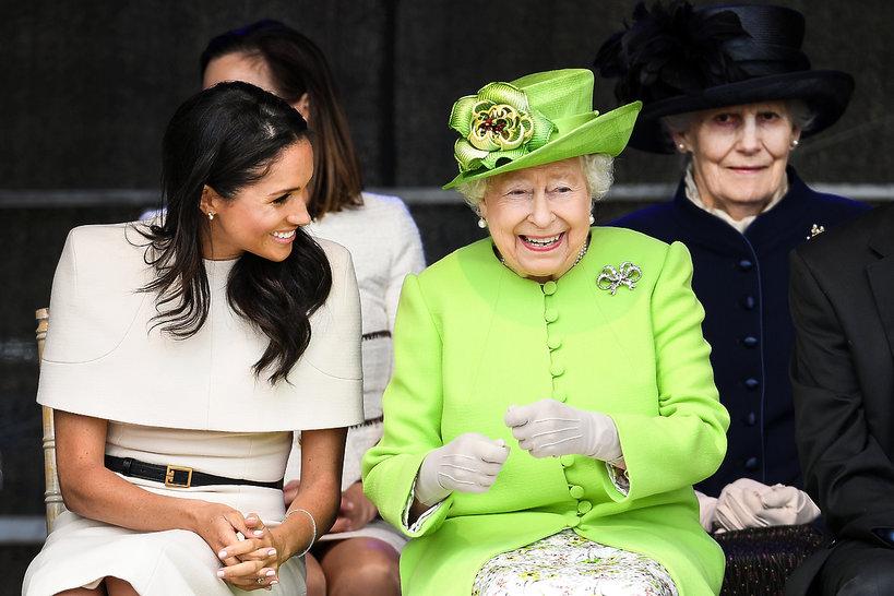 księżna Meghan i krolowa Elżbieta II