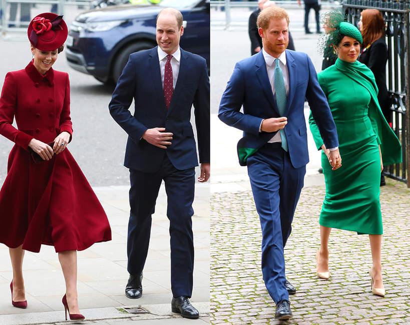 Księżna Meghan i książę Harry, książęWilliam, księżna Kate Dzień Wspólnoty Narodów