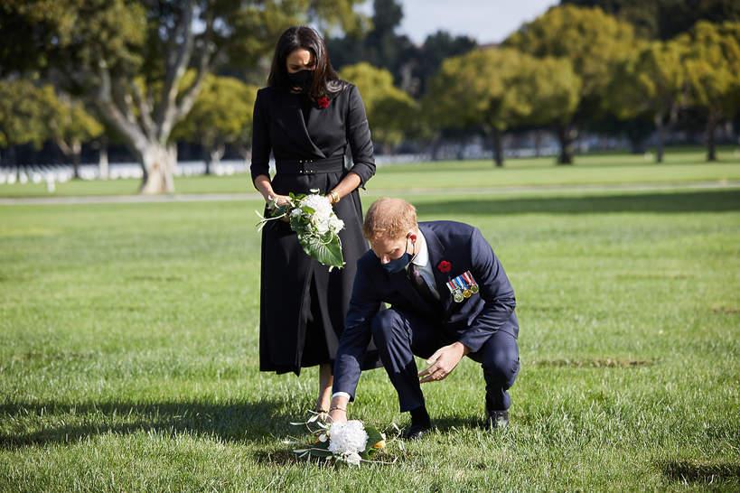 księżna Meghan i książę Harry w NiedzielęPamięci - nie korzystać ponownie!