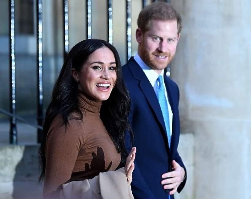 Księżna Meghan i książęHarry