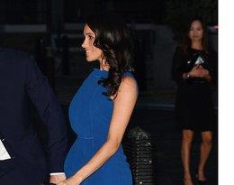 księżna Meghan, książę Harry, stylizacje Meghan, Meghan w niebieskiej sukience