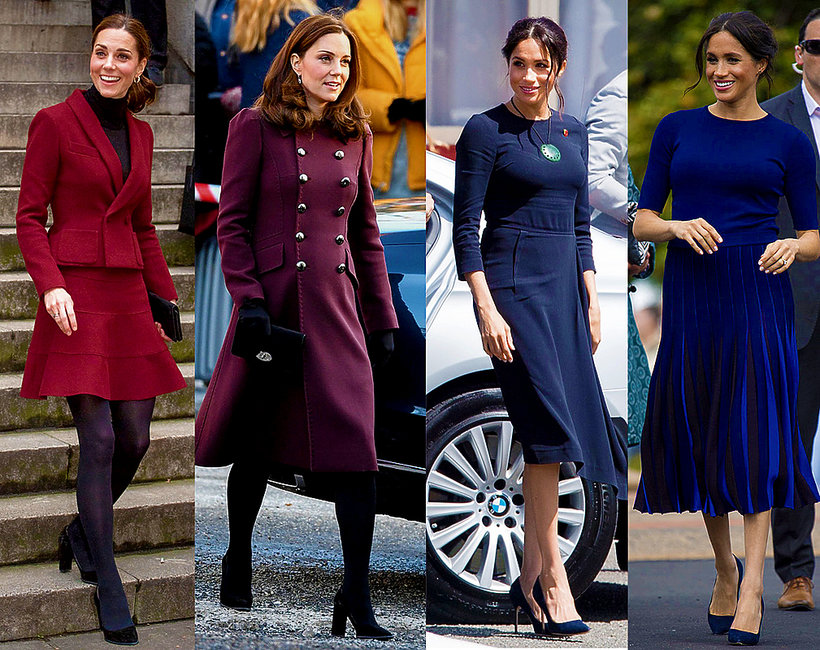 Księżna Meghan, księżna Kate, buty Meghan, buty Kate, stylizacja księżnej Meghan, stylizacja księżnej Kate