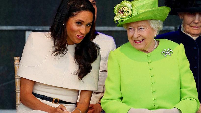 Księżna Meghan Markle i królowa Elżbieta II
