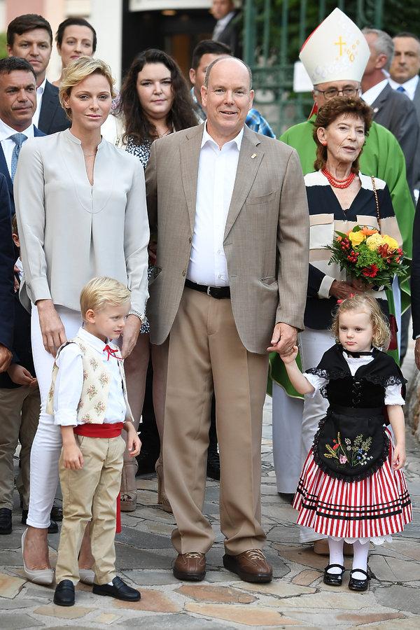 księżnej Charlene książę Jakub i księżniczka Gabriela z Monako, dzieci księcia Alberta i księżnej Charlene