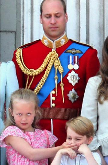 księżniczka Charlotte, książę George na balkonie