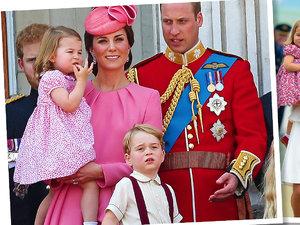 Księżniczka Charlotte, księżna Kate, książę George, książę William
