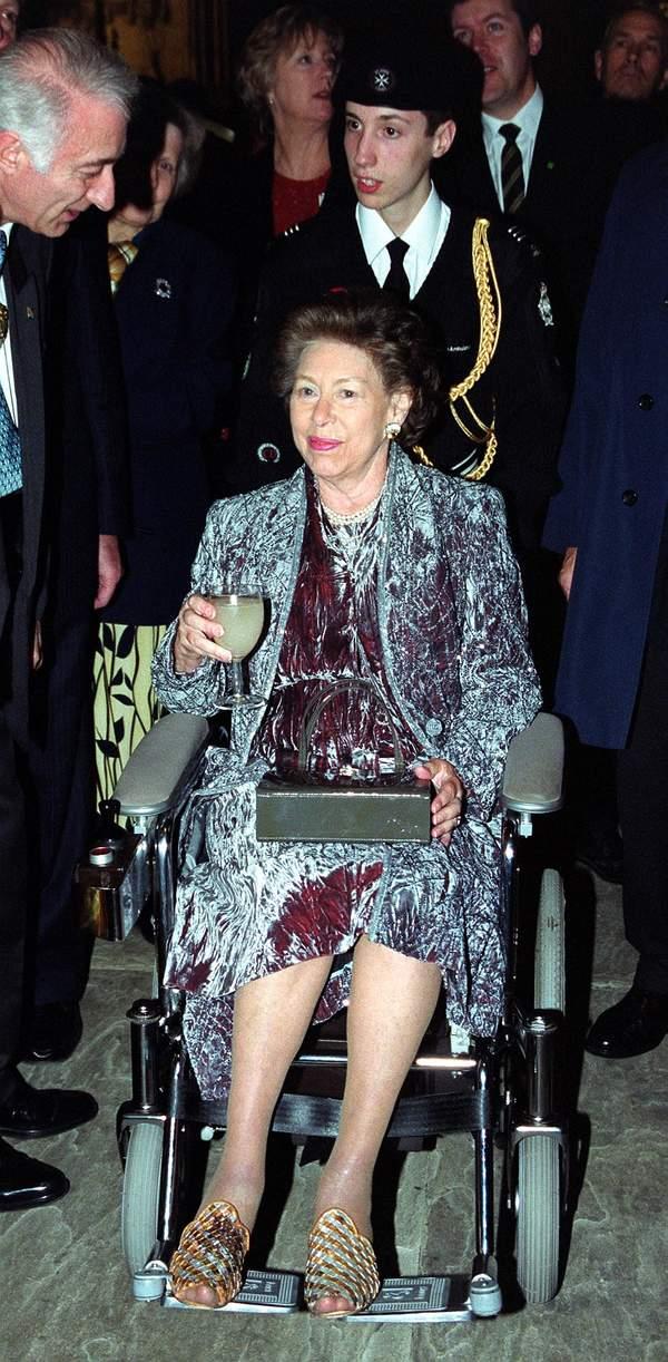 Księżniczka Małgorzata na wózku