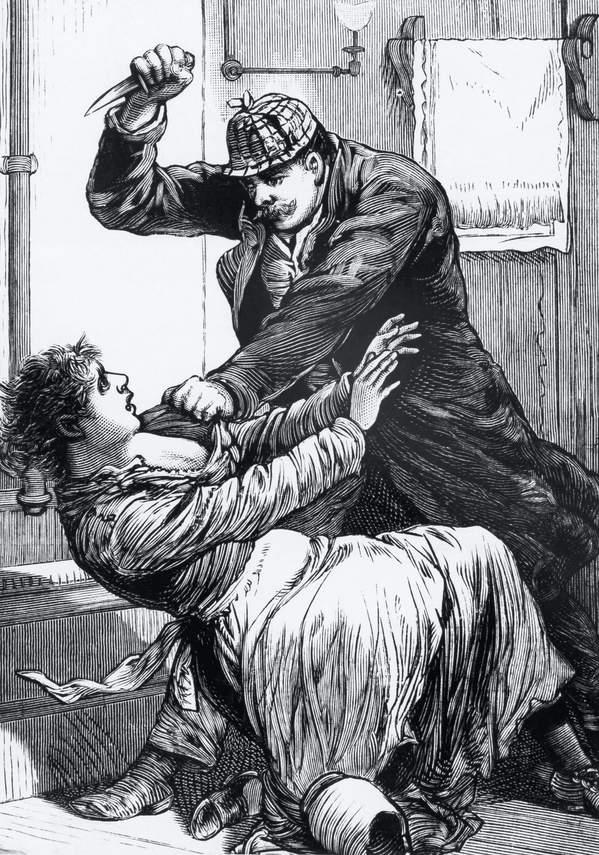 Kuba Rozpruwacz, ilustracja z gazety 1900 rok
