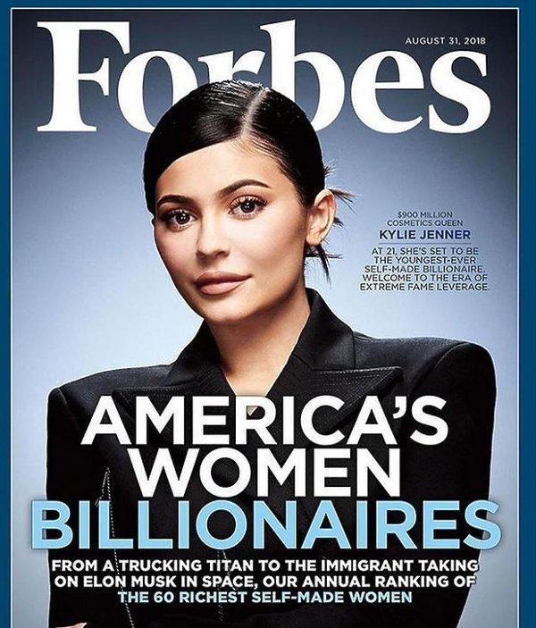 Kylie Jenner, okładka Forbes