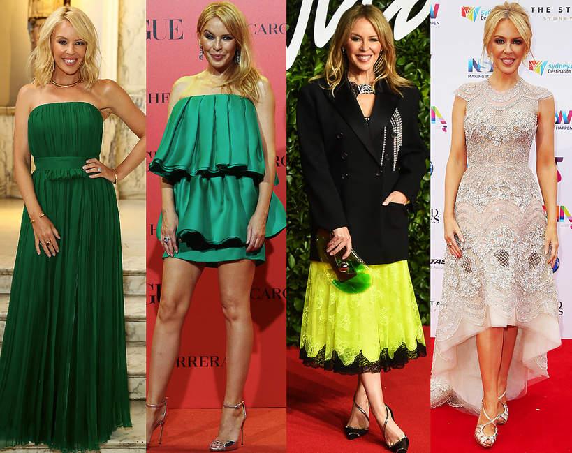 Kylie Minogue stylizacje looki sceniczne