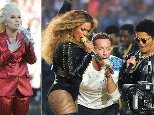 Lady Gaga, Beyonce, Chris Martin, Bruno Mars