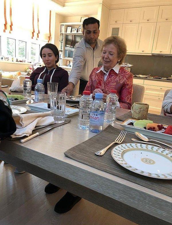 Latifa ibn Muhammad Al Maktum, Mary Robinson