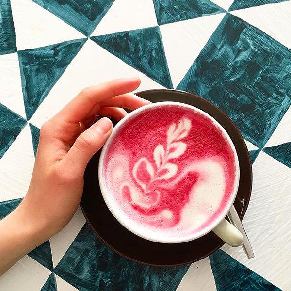 Latte z buraka