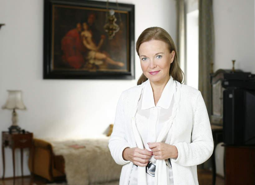 Laura Łącz w domu na Saskiej Kępie