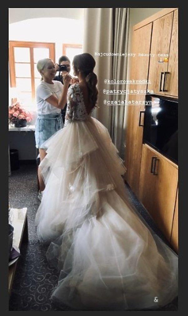 Laura Słowiak, suknia ślubna
