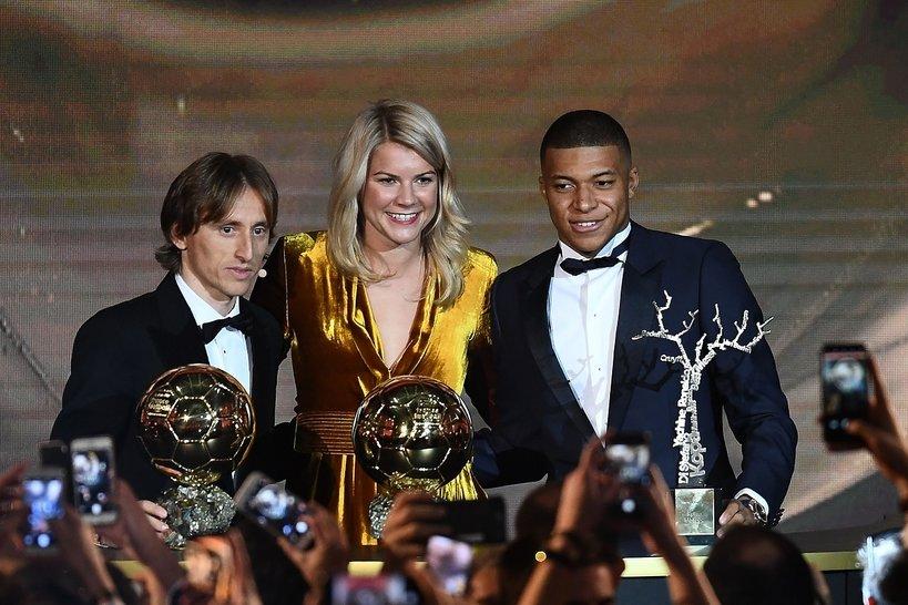 laureaci Złotej Piłki 2018: Luka Modric, Ada Hegerberg, Kylian Mbappe