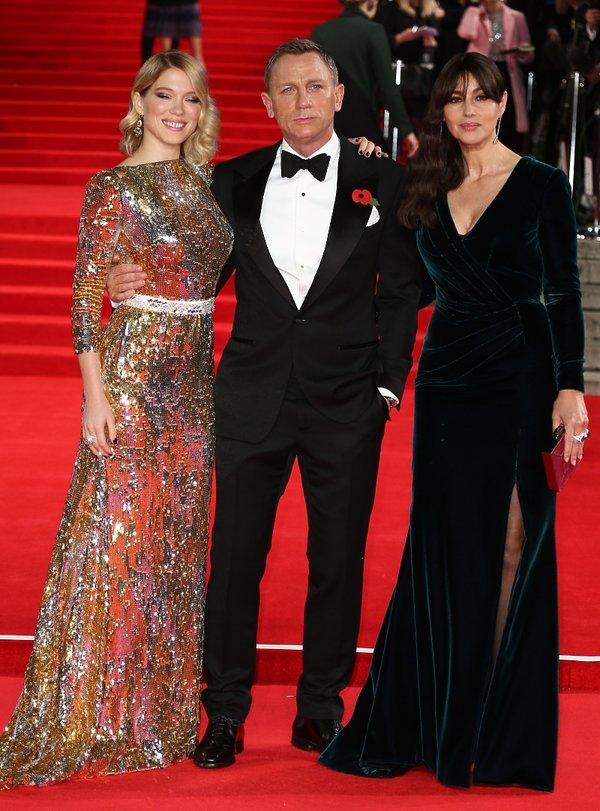 Lea Seydoux, Monica Bellucci i Daniel Craig
