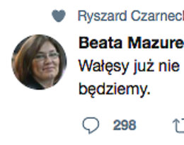 Lech Wałęsa Tweet, Beata Mazurek