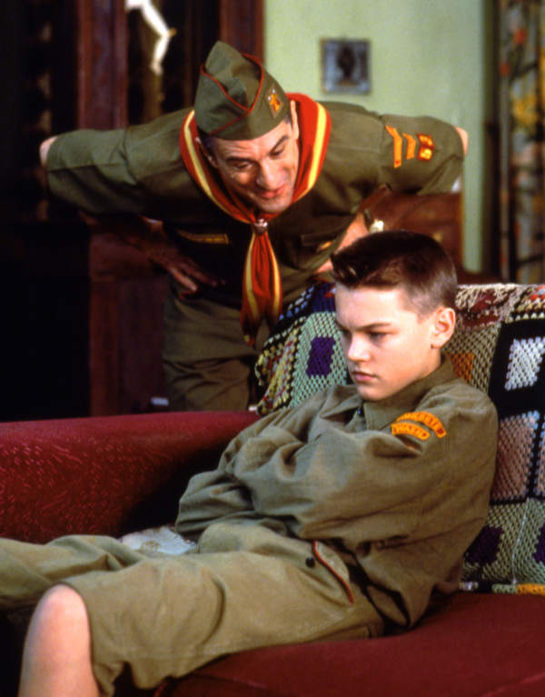 Robert De Niro, Leonardo DiCaprio, 1993, film This Boy's Life, Chłopięcy świat