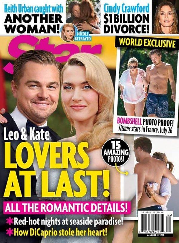 Leonardo DiCaprio i Kate Winslet na okładce Star Magazine